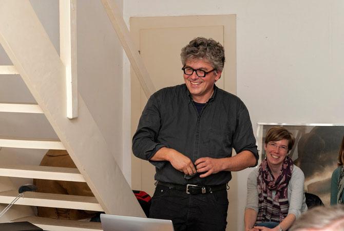 Matthias Schamp beim Vortrag