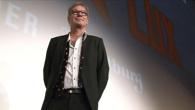 Leander Haußmann auf der Bühne der Lichtburg