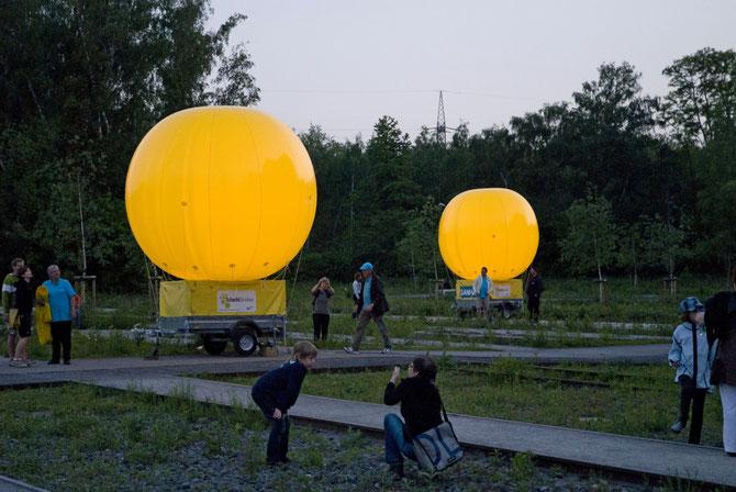Schachtzeichen am 24. Mai 2010: Ballons kurz vor dem Start