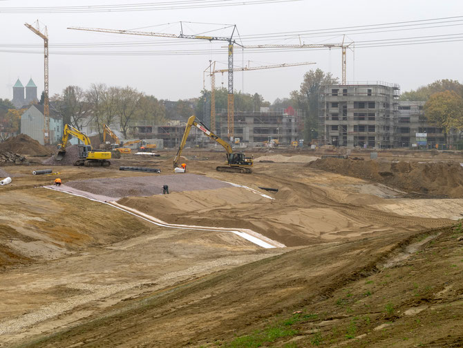 Baustelle Niederfeldsee, Oktober 2012