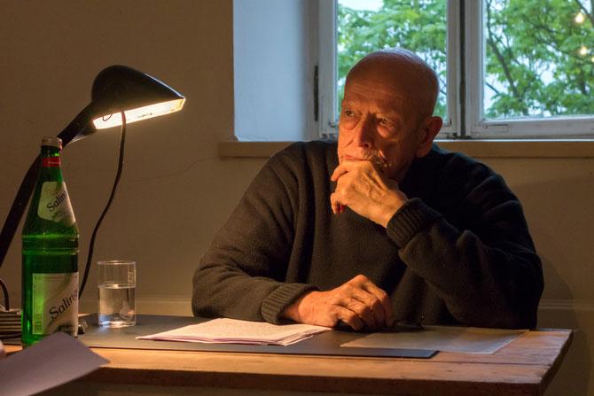 Urs Jaeggi, Mai 2014 im Atelierhaus Alte Schule