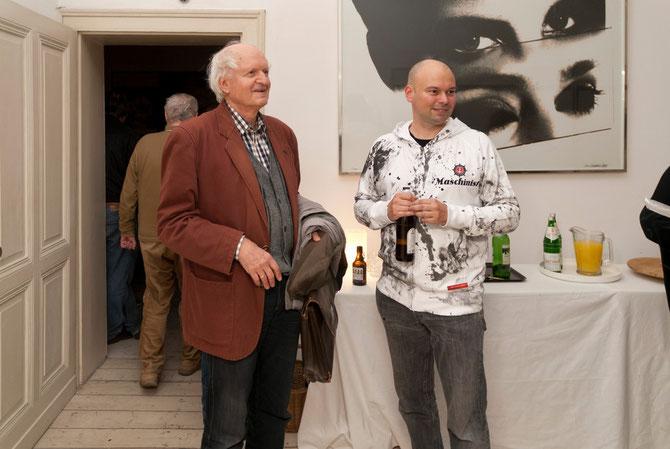 Florian Neuner (rechts) mit Jürgen Link