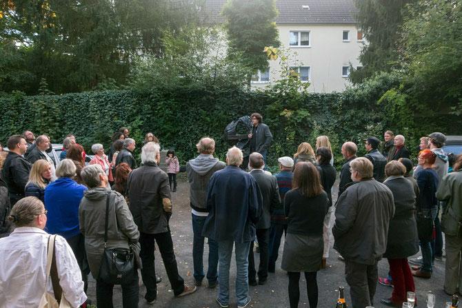 Einweihung einer Skulptur von Urich Krämer, Schüler von Herbert Lungwitz