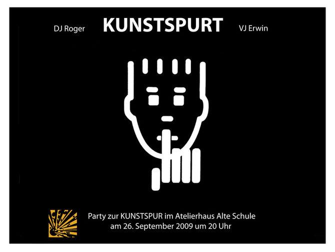 """Ankündigung der letzten """"KunstSPURT""""-Party  2009"""