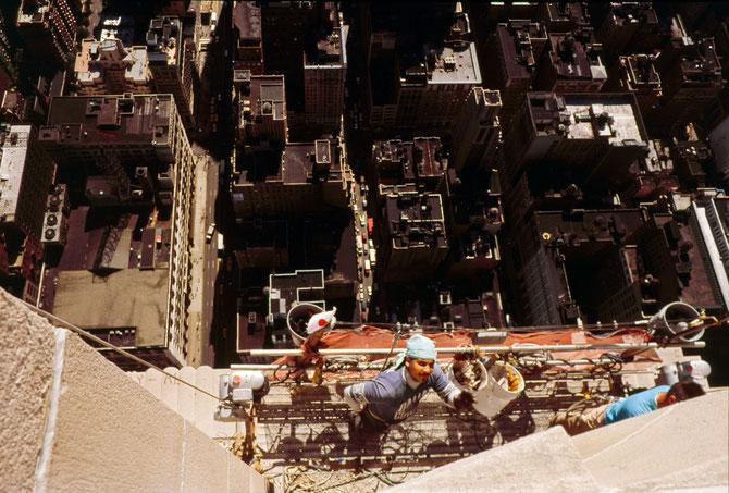 Arbeiter an der Fassade des Empire State Buildings