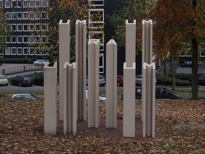 """2010 frisch renoviert: """"Umraum"""" Timm Ulrichs, 1986"""