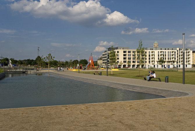 Urlaubsgefühle kurz nach der Eröffnung des Parks (Juli 2010)