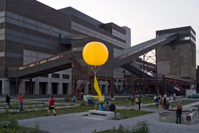 Ballon beim Start an der Kohlenwäsche