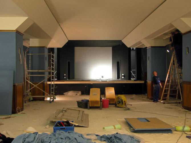 Filmstudio kurz vor Abschluss der Bauarbeiten, November 2009