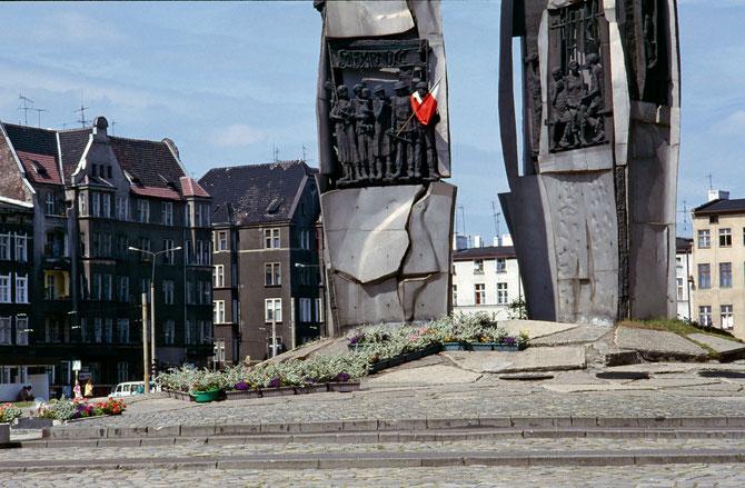 Platz mit dem Solidarnosć-Denkmal in Danzig