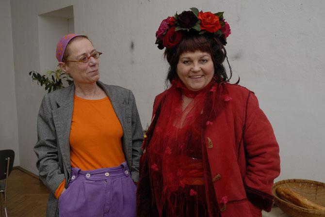 Barbara und Wanja haben sich zur Party schön gemacht