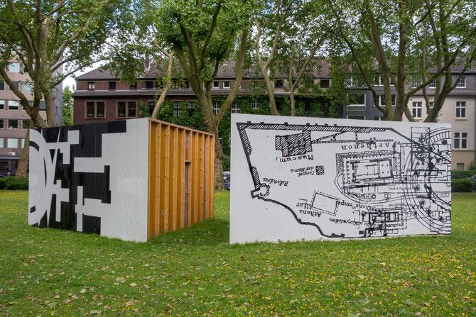 """""""Korridor"""" vom Künstlertrio Konsortium (Lars Breuer, Sebastian Freytag und Guido Münch), November 2014 bis November 2015 am Moltkeplatz"""