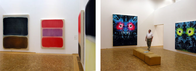 Luis Jacob, 7 Pctures of Nothing, In Gratitude (links), They Sleep With One Eye Open, 2009 (rechts)