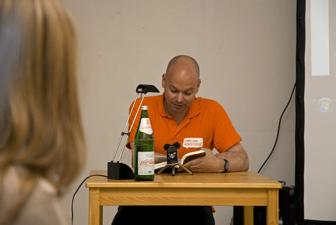 Florian Neuner, Lesung Ruhrtext im Atelierhaus Alte Schule