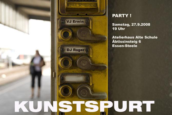 "Ankündigung ""KunstSPURT"" 2008"