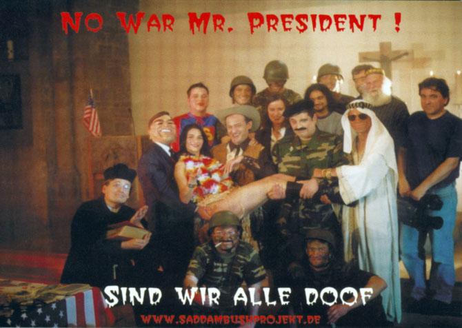 Diese Postkarte lag in fast allen Ruhrgebiets-Szenekneipen aus und konnte an das Weiße Haus verschickt werden.
