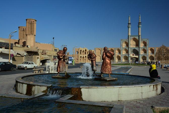 Brunnen vor der Meydan-e Mir Chaqmaq – Moschee