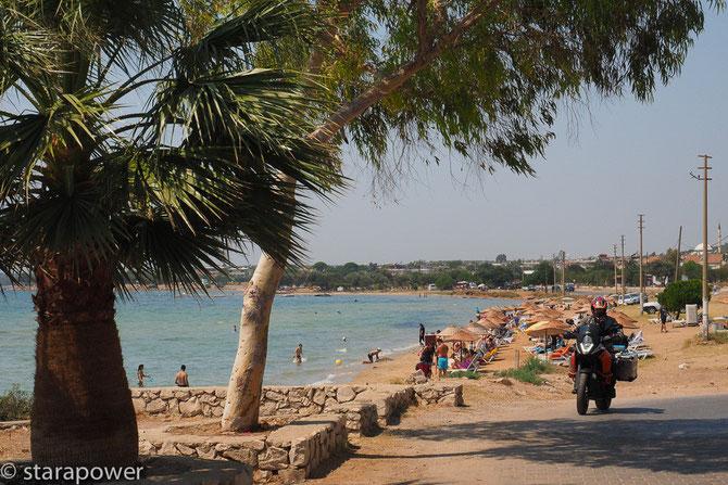Immer am Strand lang - Szene am Golf von Akbük