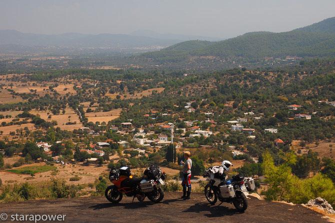 Blick auf Kizilagac im bergigen Hinterland von Bodrum