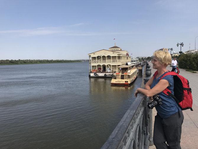 An der Wolga-Promenade von Astrachan