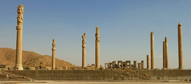 Persepolis (Takht-e Jamshid)  -- Treppen zum Apadana-Palast