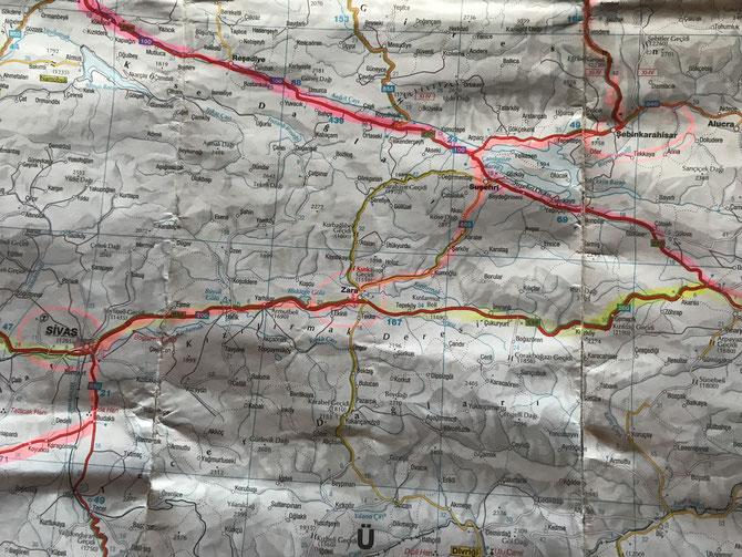 Von Şebinkarahisar über Zara nach Sivas