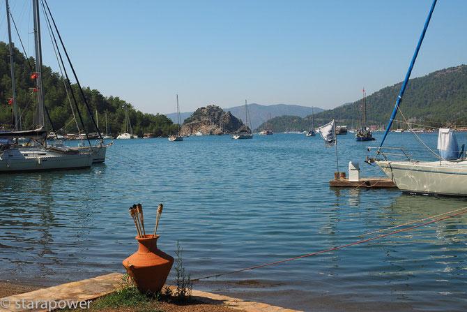 Malerische Bucht von Orhaniye