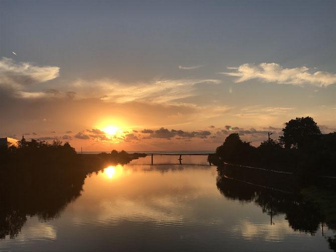 Sundown am Schwarzen Meer bei Kobuteli