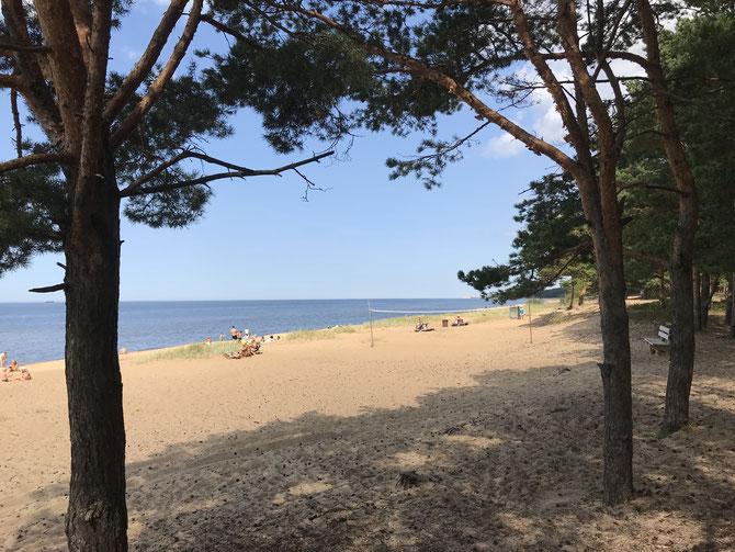 Strandleben in Saulkrasti