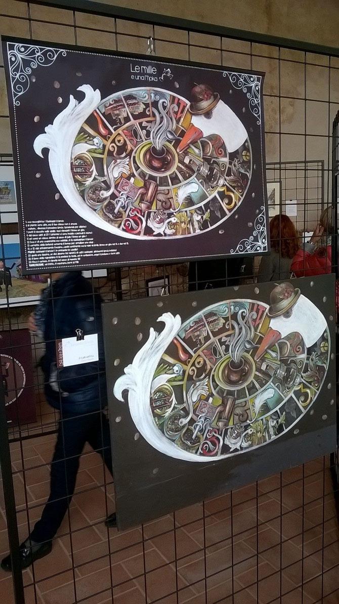 OCA CAFFE' questa oca è diventata un poster e un vassoio .