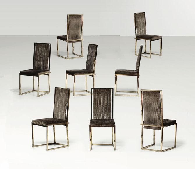 sedie vintage ottone romeo rega willy rizzo
