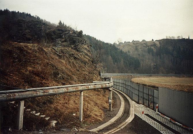 heutiges Streckenende an der Ziegelhütte zu DDR-Zeiten