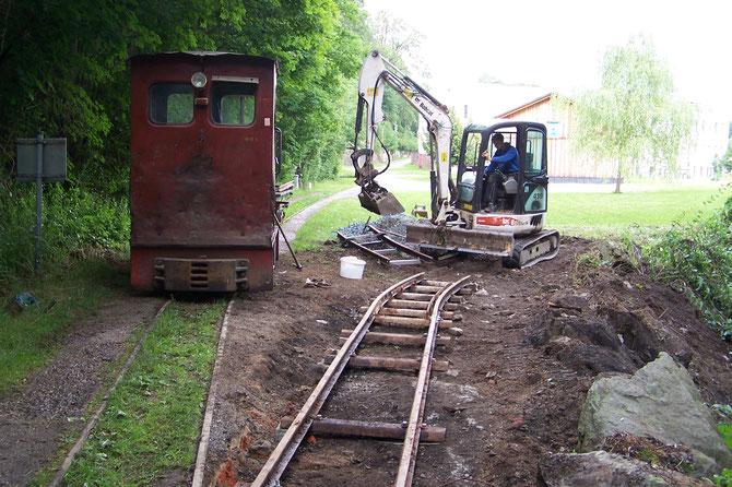 2018: Wiederaufbau eines Teilstücks der 2. Betriebseinfahrt