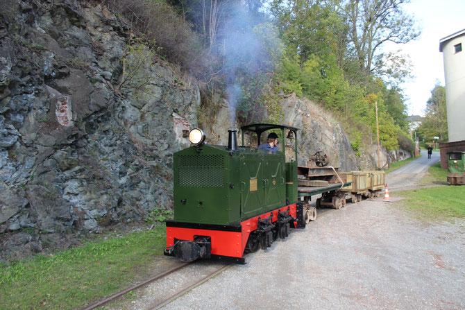 10'19: Gastlok Ou.K vom Int.Feldbahntreffen. Dieser Typ fuhr vor 90 Jahren in Blankenberg.