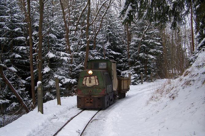 12'14 Erste Fahrt bei Schnee