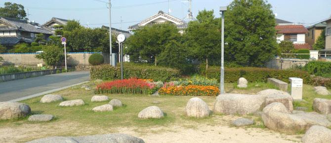 """さびしかった古井戸公園の一角に、楽しい""""彩り""""がお目見え。"""