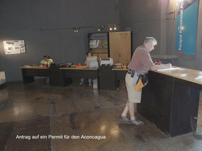 Beantragung des Permits für die Besteigung des Aconcaguas