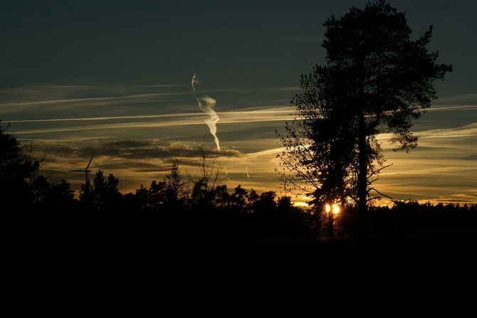 Rauchsignale am Abendhimmel 16.12.2013