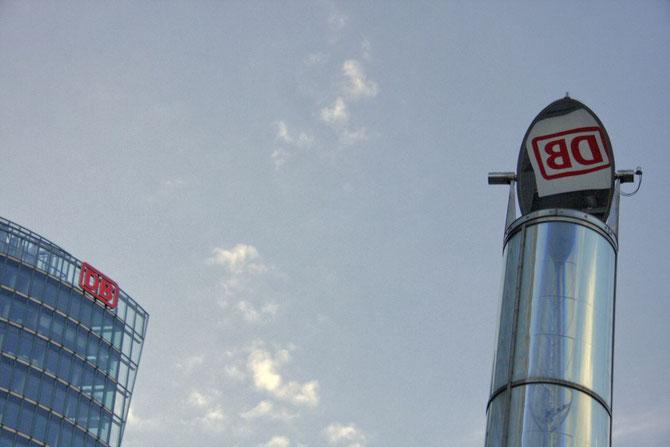 Urbanes Designe, Spiegelungen am Potsdamer Platz Berlin