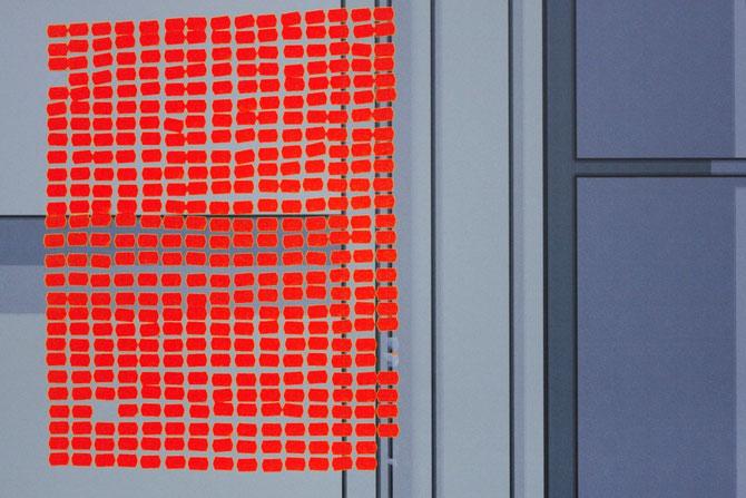 Rot auf Glas
