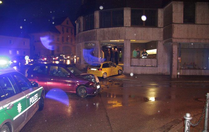 Unfall Schlossstraße in Höhe der FLZ am 26.02.2010 um 18:27
