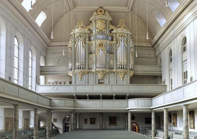 Gumbertuskirchen mit Wiegleb-Orgel