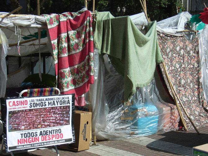 Buenos Aires, Obdachlosenquatiere im Stadtzentrum