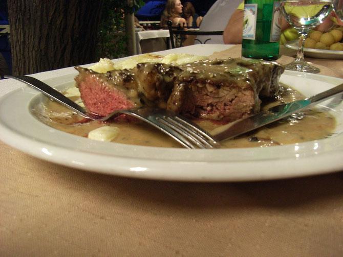 Die Argentinischen Steaks waren eine unglaubliche Gaumenfreude!