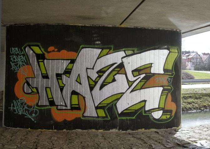 Graffiti Ansbach KasernenDamm 2013
