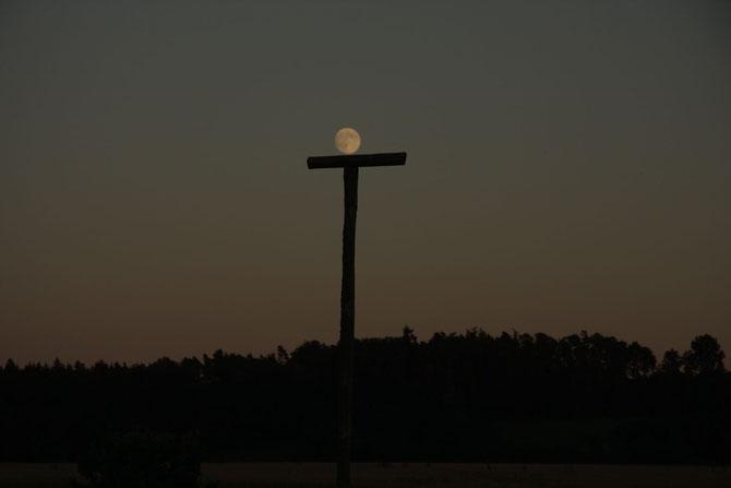 Der Mond gönnt sich eine kleine Ruhepause 21.07.2013