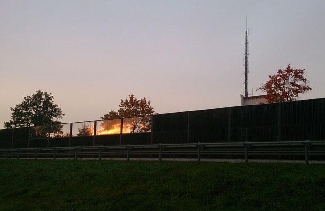 Schallschutzwand entlang der St 2237 , Ansbach OT Eyb