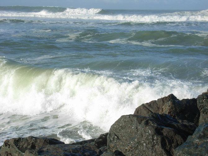 Wellen am Strand von Anglet 2