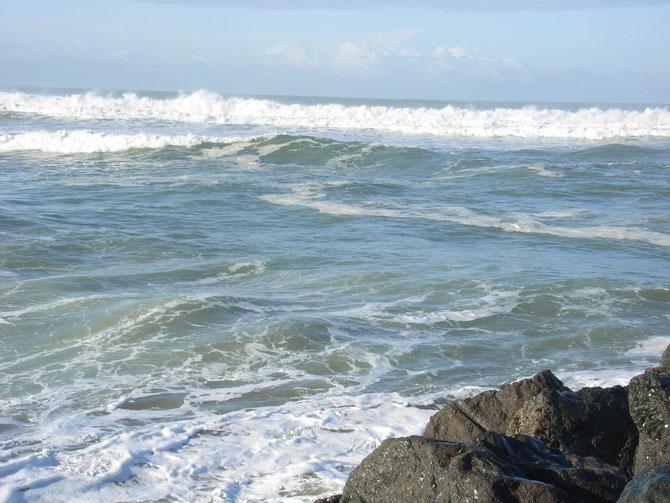Wellen am Strand von Anglet 1