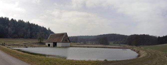 Weiher an der Silbermühle, bei Ansbach am 04.04.2013 um 12:02 Uhr